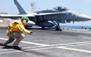 Tiêm kích F/A-18 Mỹ bốc cháy ngay trên tàu sân bay
