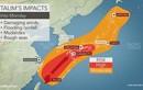 Bão Talim gây ảnh hưởng nghiêm trọng tại Nhật Bản