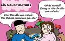 Sự khác nhau hài hước khi mang thai lần đầu và lần hai