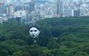 Khinh khí cầu hình đầu người khổng lồ bay trên bầu trời Tokyo