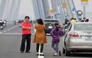 Ngán ngẩm cảnh bát nháo trên cầu Nhật Tân vừa khánh thành