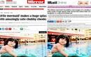 Tiểu Mỹ nhân ngư mũm mĩm Việt Nam xuất hiện trên báo Tây