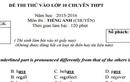 Đáp án, đề thi thử môn Anh vào lớp 10 THPT Chuyên HN-Amsterdam