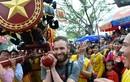 Tưng bừng lễ hội rước pháo khổng lồ làng Đồng Kỵ