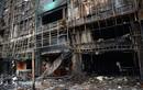 Cảnh hoang tàn sau vụ cháy karaoke 13 người chết ở Hà Nội