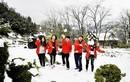 """""""Thiên đường"""" khiến dân phượt mê mệt vì tuyết trắng bao phủ"""