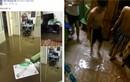 Sinh viên, giới trẻ khốn đốn trong cảnh Hà Nội ngập lụt