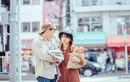 Cặp đôi Việt chụp ảnh cưới bán báo, bán bánh mì giữa Tokyo hào nhoáng