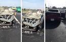 Mazda 3 cháy trơ khung trên cao tốc Long Thành - Dầu Giây