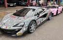 Siêu xe McLaren 12 tỷ khoác áo giáng sinh tại Sài Gòn