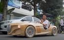 Ông bố trẻ Bắc Ninh tiếp tục chế tạo ôtô BMW bằng gỗ tặng con