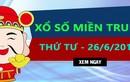 Kết quả xổ số miền Trung hôm nay 26/6/2019 – Trực tiếp XSMT thứ tư