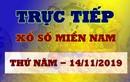 XSMN 14/11 - Trực tiếp kết quả xổ số miền Nam hôm nay 14/11 thứ 5
