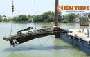 Video trục vớt thành công tàu đẩy sà lan đâm sập cầu Ghềnh