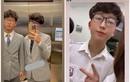 Em trai Á hậu Huyền My diện vest bảnh bao, netizen khen hết lời