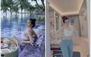 """Check-in hồ bơi, vợ cũ Huy Cung gây chú ý vì vòng 1 """"khủng"""""""