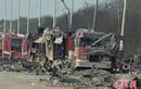 Cận cảnh hiện trường tan hoang sau vụ nổ ở Thiên Tân