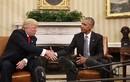 Những cử chỉ đầy ẩn ý trong cuộc gặp Donald Trump-Barack Obama