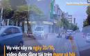 Video Thanh niên đi xe máy phóng nhanh đâm vào đuôi ôtô