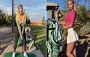 Mỹ nhân làng Golf ngượng chín mặt vì mặc áo hớ hênh ra sân