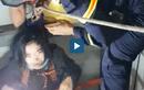 Video : Cứu người phụ nữ kẹt dưới giếng thang máy