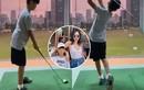 Con trai Lệ Quyên mới 9 tuổi đã đánh golf cực chuyên nghiệp