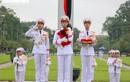 Ảnh: Lễ treo cờ rủ Quốc tang nguyên Tổng Bí thư Lê Khả Phiêu