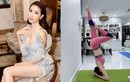 """Các động tác yoga gợi cảm giúp hoa hậu """"cảnh nóng"""" Phan Thị Mơ giữ dáng"""
