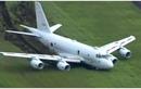 Siêu máy bay trinh sát săn ngầm P-1 của Nhật lao khỏi đường băng