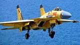 Xem J-15 cất cánh từ tàu sân bay… mặt đất