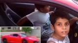 Clip bố cho con 9 tuổi lái siêu xe Ferrari