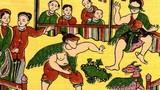 Chùm ảnh: Trò chơi Tết xưa trong tranh dân gian Đông Hồ