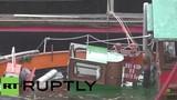 Xót xa con tàu 104 tuổi bị chìm ở Berlin