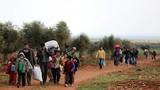 """Cảnh dân thường ồ ạt tháo chạy khỏi """"chảo lửa"""" Afrin"""