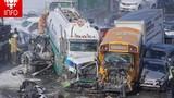 200 xe tai nạn liên hoàn trên cao tốc, 70 người bị thương
