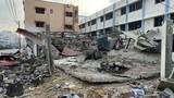 Cận cảnh Dải Gaza tan hoang sau đòn không kích của Israel