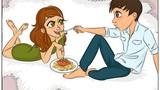 Hài hước cuộc sống lứa đôi trước và sau khi kết hôn