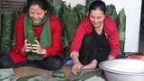 Làng bánh chưng nức tiếng xứ Nghệ tất bật vào vụ Tết