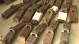 Hàng loạt má phanh tàu hỏa bị trộm