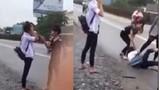 Phẫn nộ clip nữ sinh bị đánh hội đồng giữa đường