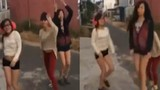 Hết trò, gái trẻ rủ nhau ra đường nhảy loạn xì ngầu