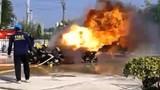 Lính cứu hỏa suýt bị thiêu thành than