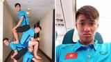 4 hot boy tuyển Việt Nam đua nhau 'xếp hình': Ai khỏe hơn ai?