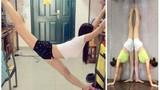 Hot girl 9X xinh đẹp có tài xoạc chân, uốn dẻo