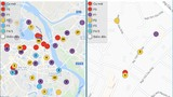 """Smartcity """"chỉ điểm"""" các khu vực có người nhiễm Covid-19 tại Hà Nội"""