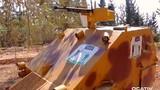 Cận cảnh xe tăng tự chế của phiến quân Syria chống IS
