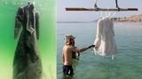Điều gì xảy ra nếu ngâm váy dưới biển Chết 2 năm?