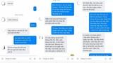 Sự thật vụ thiếu nữ ngang nhiên nhắn tin cho bạn gái crush