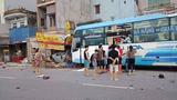 Nam Định: Xe khách tông một người phụ nữ đi xe đạp điện tử vong