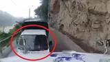 Video: Xe tải lao như bay trên đèo dốc, đâm container như phim hành động